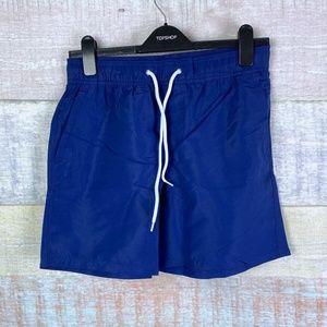 Forever21 Men Swimwear Bottoms in Dark Blue